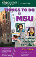 Cover of the Things to Do at MSU 2016 edition