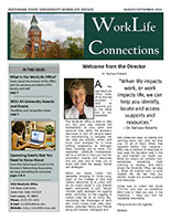 Cover of the MSU WorkLife Connections Newsletter