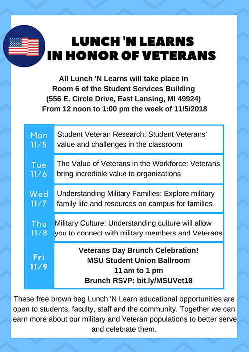 Veterans Week lunch events