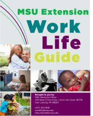 Image of MSU Extension WorkLife Guide Cover