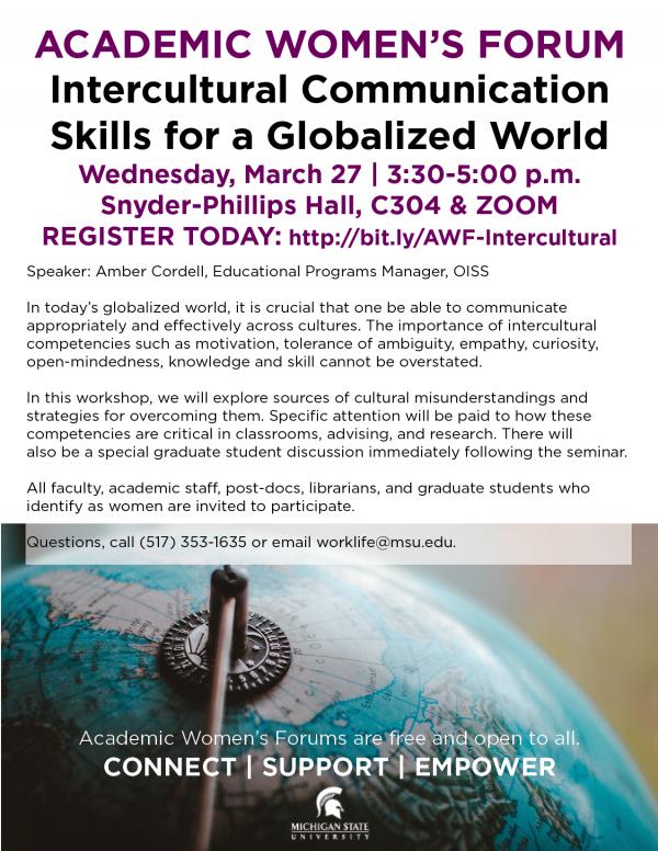 Academic Women's Forum: Intercultural Communication Skills