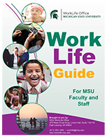 Front cover of the WorkLife Guide brochure